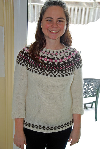 Lopi yoke knitted sweater
