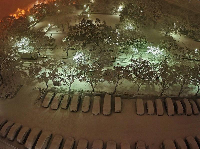 Seishincho Parking area 1-35 at night