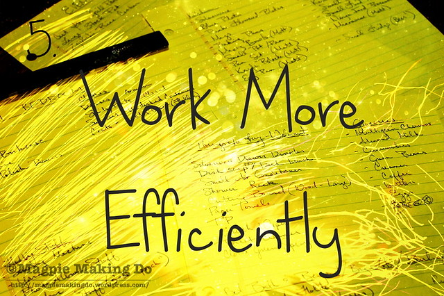 Work More Efficiently