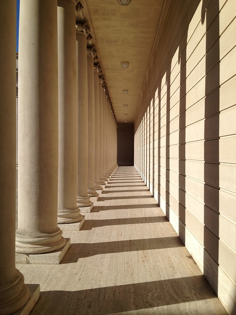 Walkway with columns