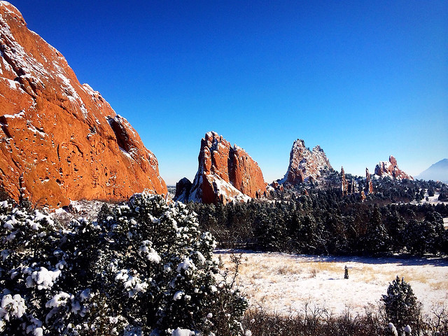 Pictures after a recent snowfall at the Garden of the Gods in Colorado Springs.