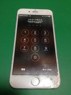 100_iPhone6のフロントパネル液晶割れ