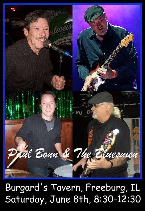 Paul Bonn & The Bluesmen 6-8-13