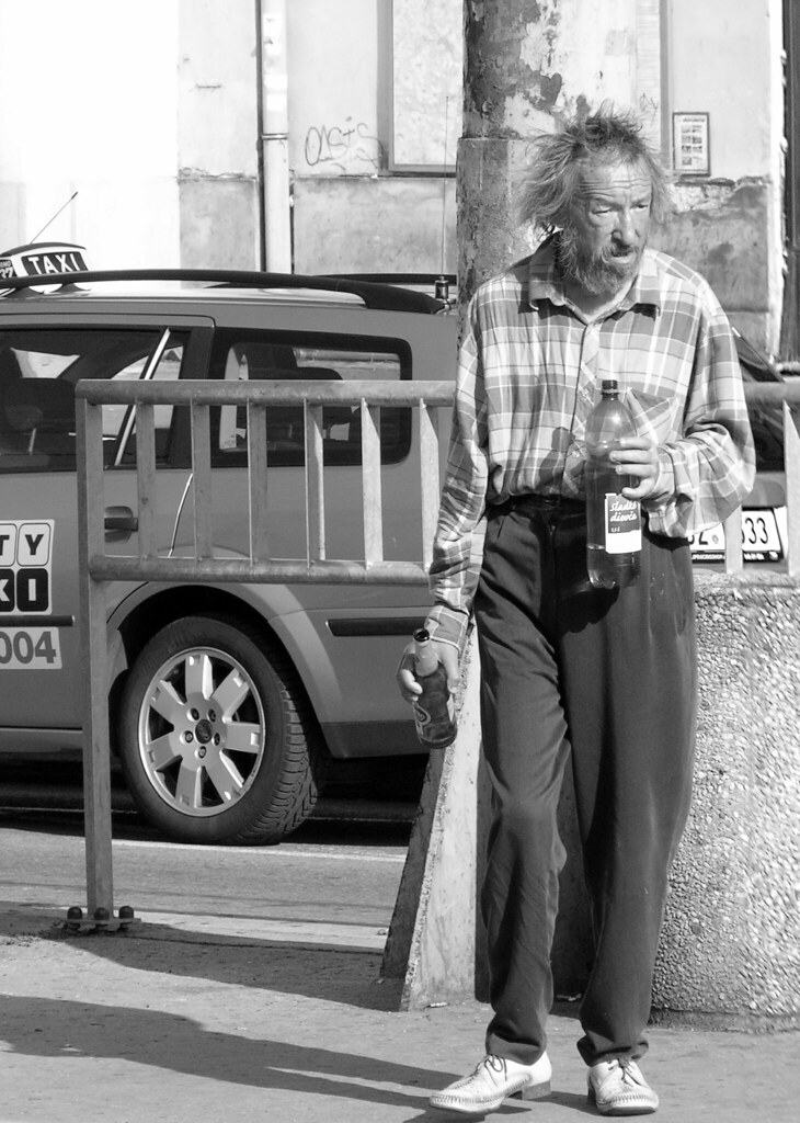 Street Person with Bottles