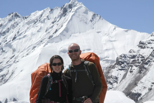 At base camp. South Inylchek Glacier Trek