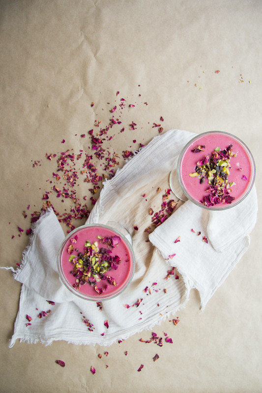 valentine smoothie: raspberry and rosewater