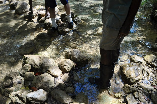 This is Why My Guide Wore Black Rubber Boots