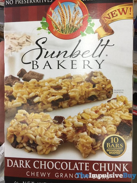 Sunbelt Bakery Dark Chocolate Chunk Chewy Granola Bars