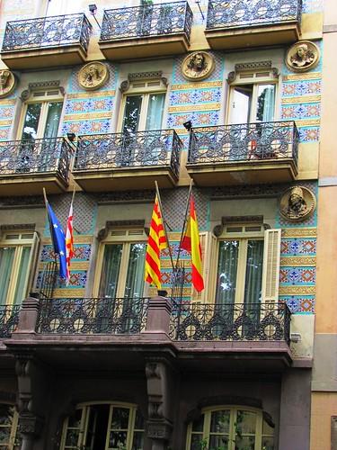 Barcelona, La Rambla Facade