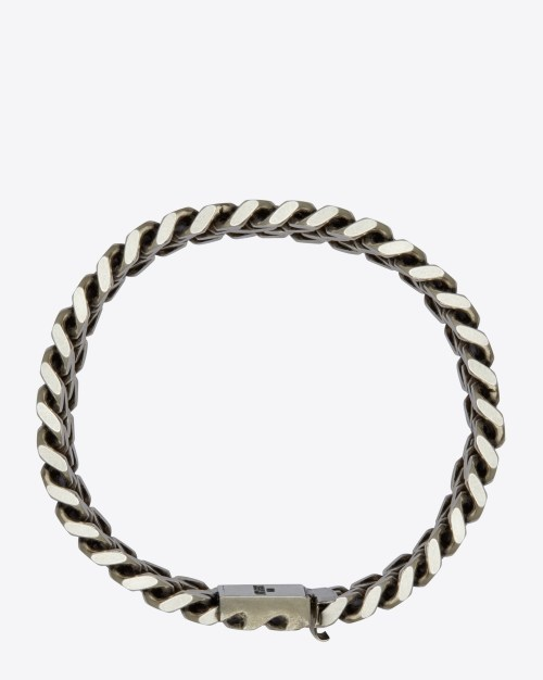 CLASSIC GOURMETTE BRACELET IN OLD STERLING SILVER $525