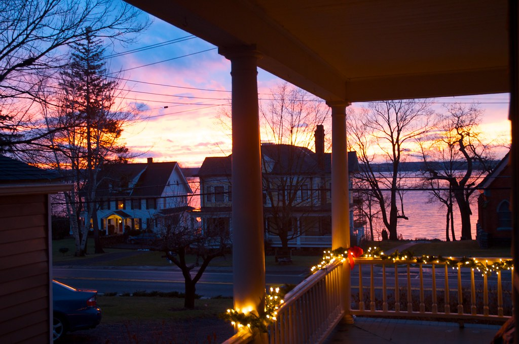 Sunset from porch