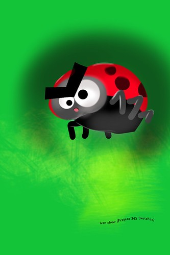 """Angry Ladybird"" (#141: Project 365 Sketches)"