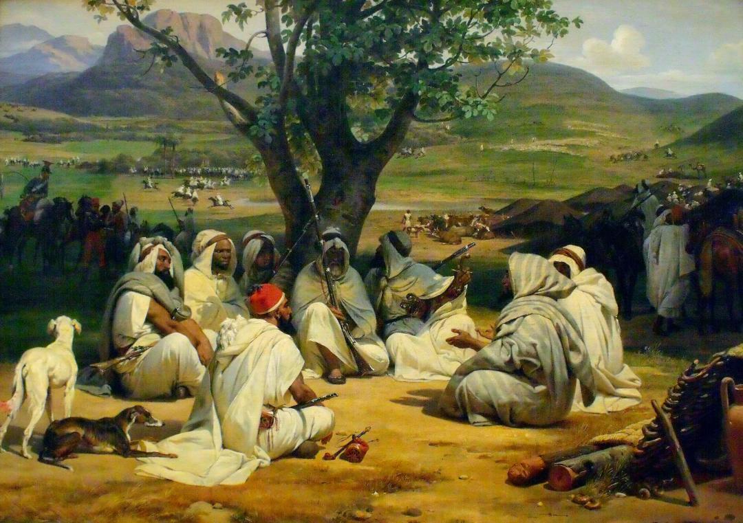 Reunión de árabes. Horace Vernet. Óleo sobre lienzo, 1834