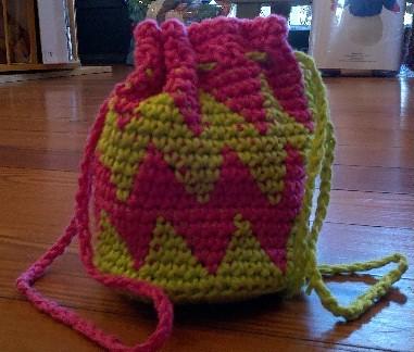 Tapestry Crochet Yarn Caddy
