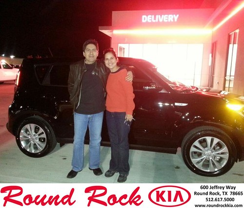 Thank you to Victor & Maria Mejia on your new 2014 #Kia #Soul from Fidel Martinez and everyone at Round Rock Kia! #NewCarSmell by RoundRockKia
