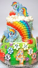 ©Cookievonster Rainbow Dash cake