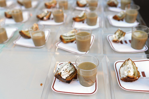 Guy Savoy artichoke and black truffle soup; toastes mushroom brioche with black truffle butter