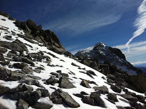 Gipfelaufstieg Fernerköpfl Blick auf Magerstein