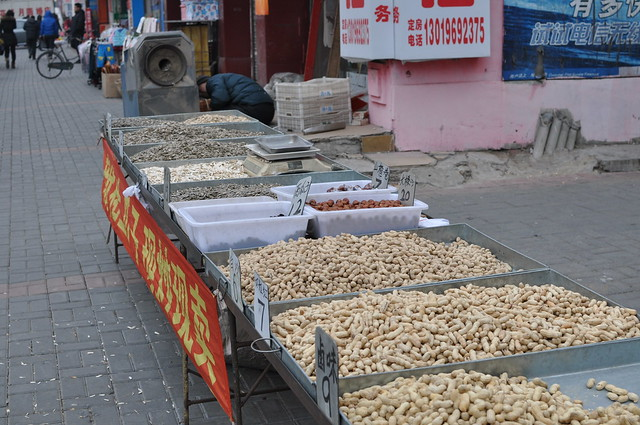 Selling nuts for Chinese New Year