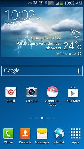 Home screen ของ Samsung Galaxy Note 3 Neo