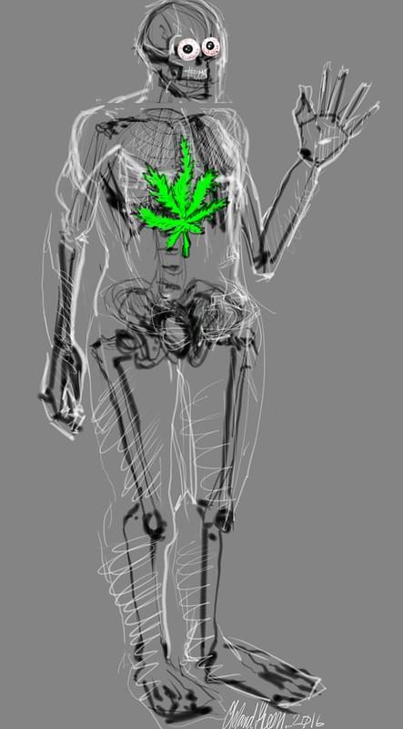 Cannabis Skeleton 1