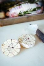 Garlic with salt
