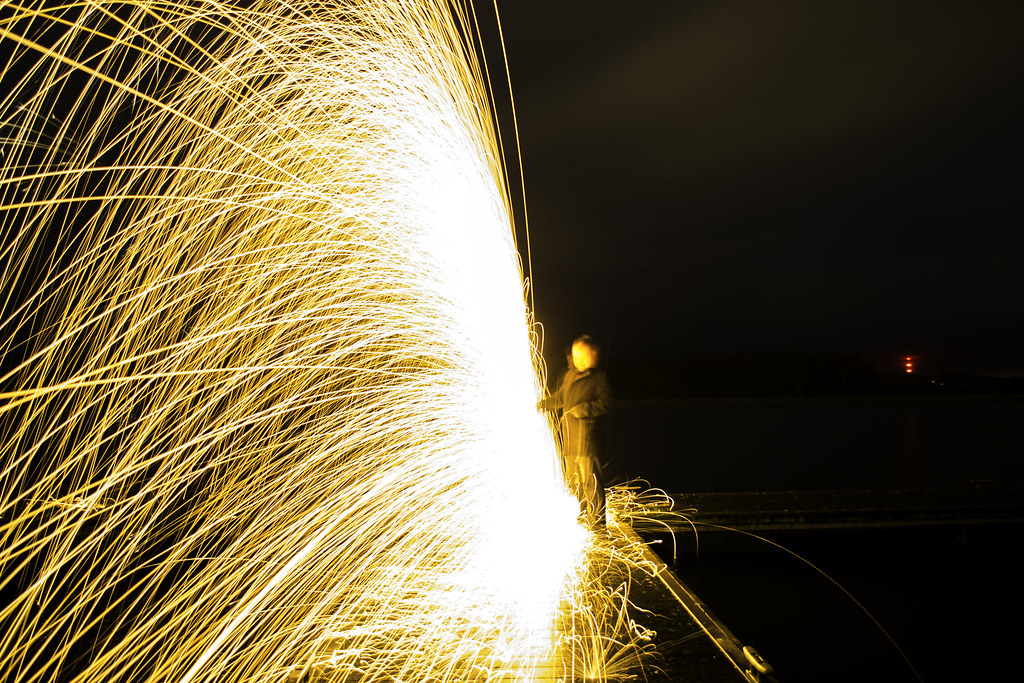 wall of sparks
