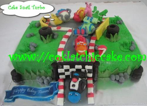 Kue ulang tahun turbo snail