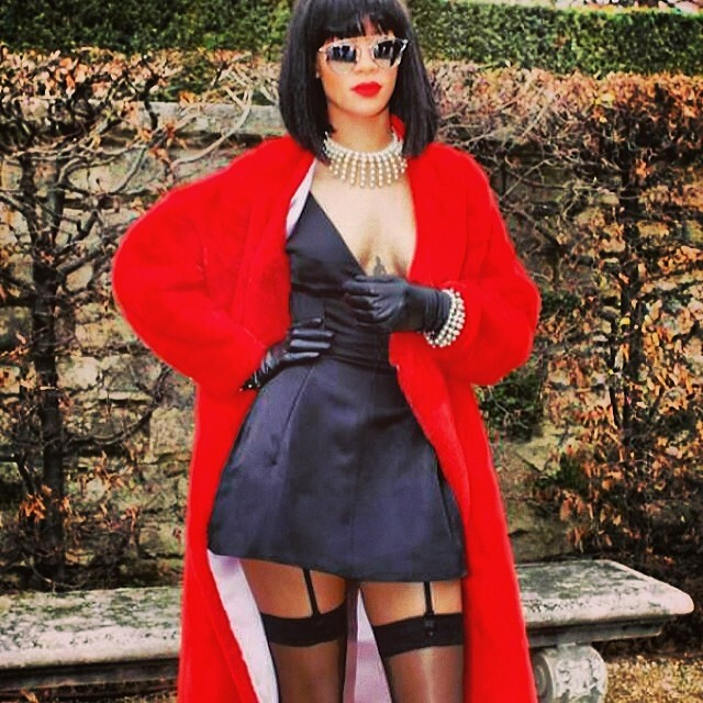 #riri #fashion #show #week #pfw #pfa #rihanna #time #black #dress #little#red#riding#hood #sexxy #@ #dior