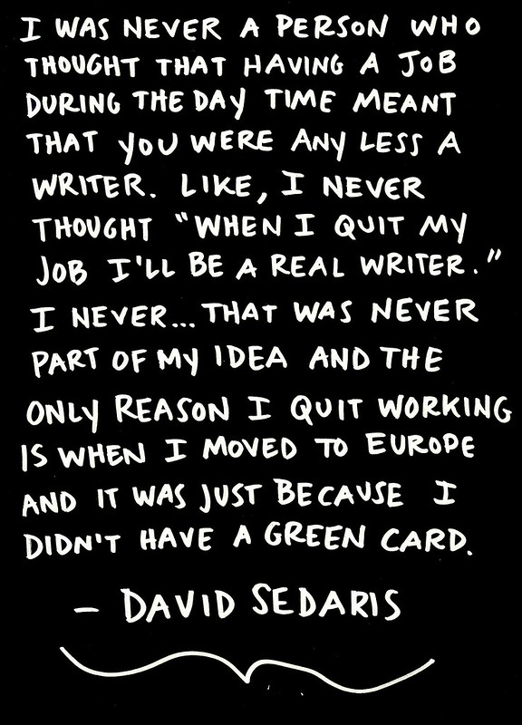David Sedaris on Day Jobs