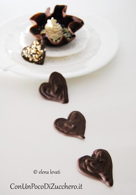 Coupelle al cacao e mousse
