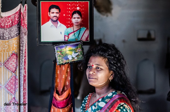 portrait of women weaver pochampally