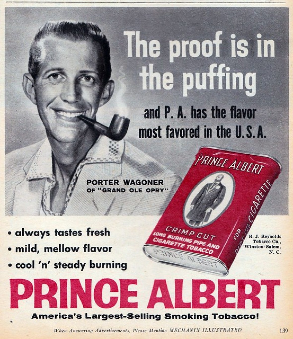 Prince Albert featuring Porter Wagoner - published in Mechanix Illustrated