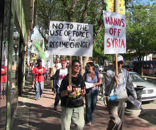 No Way On Syria - Information Picket