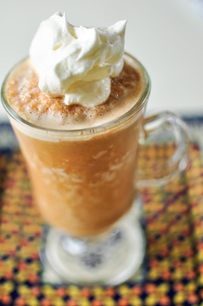Caramel Pumpkin Spice Frappacino