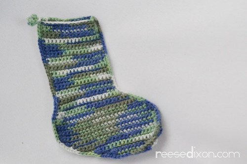 Crocheted Sock Step 3