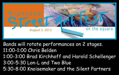 Highland Street Art Fest 8-3-13