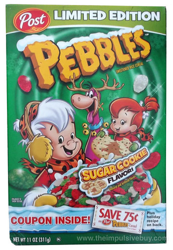 Limited Edition Post Sugar Cookie Pebbles Cereal