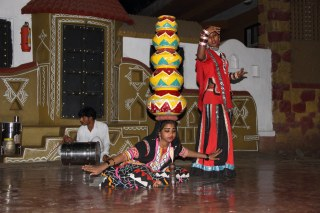 Folk dance at chokhi dhani pune