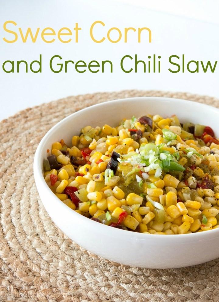 Corn and Green Chilli Slaw | www.infinebalance.com #recipe #salad #bbq