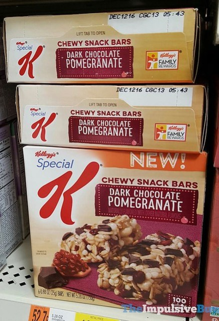 Kellogg's Special K Dark Chocolate Pomegranate Chewy Snack Bars