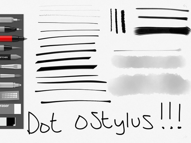 Dot oStylus line test
