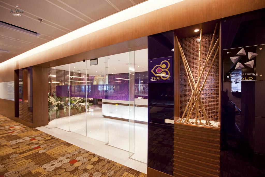 Entrance to Thai Airways Lounge