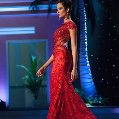 Red lace evening gown with cap sleeves at Miss Universe | #dresses #couture #love #girl #happy #beautiful #dragqueens #pageants #nice #dress #fashion #missuniverse #red #lace #missbahamas #designers #replicas #evening_dress #formal #fashionblogger #dresse