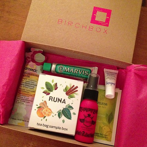 Woop my monthly gift came- the good one from @birchbox! #birchbox