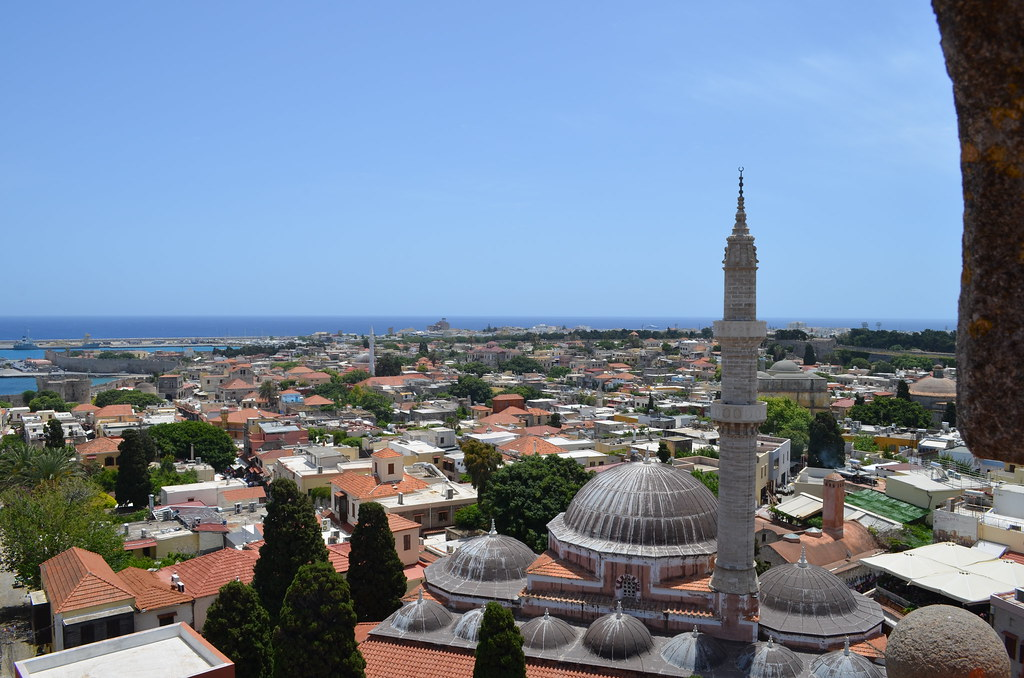 Rhodes Mosque and Coastline