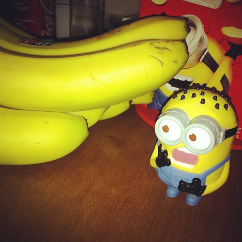 Ahhhh BANANA! #despicableme#despicableme2 #minion #mcdonalds #happymeal I need the minion who is holsin the banana!! ps thanks @beautymoogle for the heads up :D