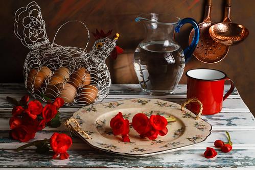 Red Begonias by Luiz L.