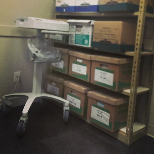 I guess this exam room is also a storage room?