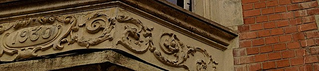 Detail of a flemish style building
